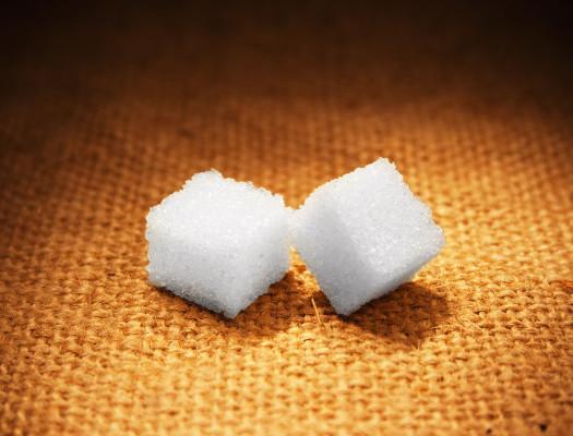 lump sugar on sacking