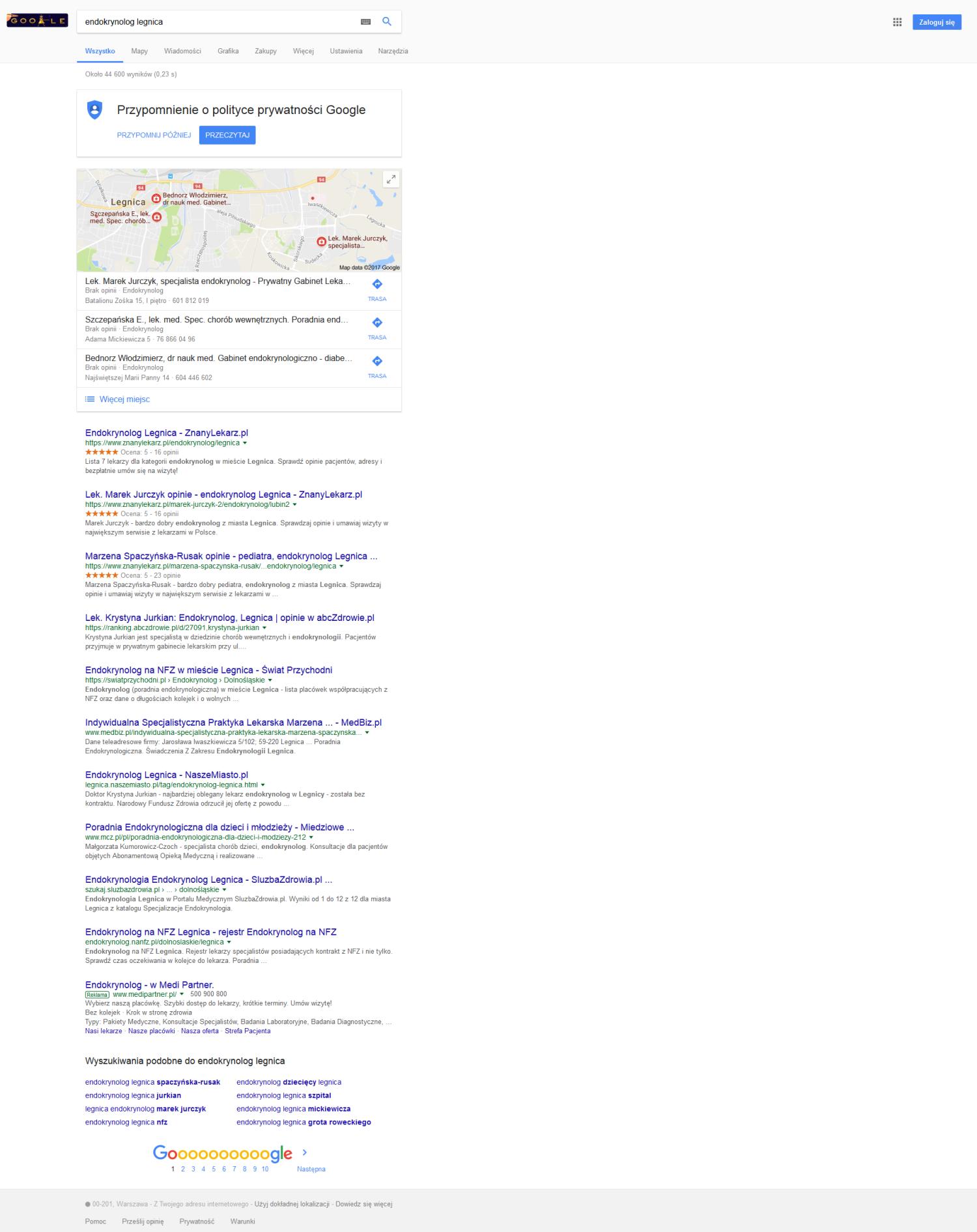 endokrynolog legnica google